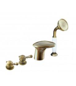 Смеситель на борт ванны RAV COBRA, бронза